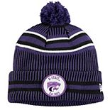 Men's New Era Purple Kansas State Wildcats Sideline Home Cuffed Knit Hat