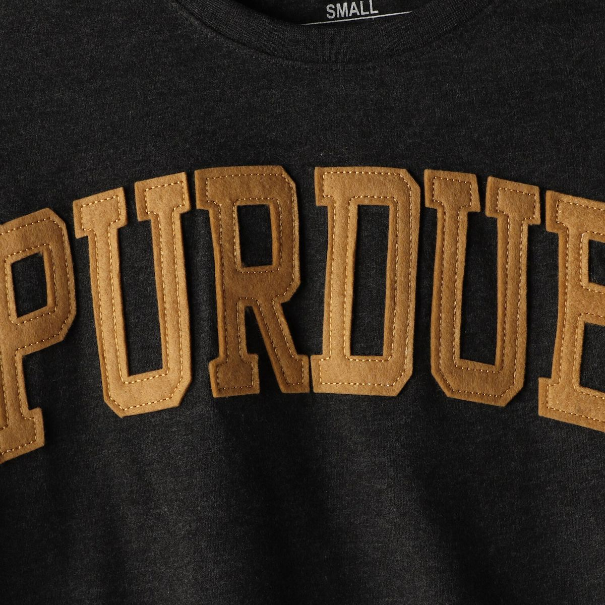 Women's Pressbox Heathered Black Purdue Boilermakers Two-Hit Canyon Long Sleeve T-Shirt uUYTE