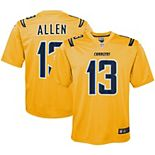 Youth Nike Keenan Allen Gold Los Angeles Chargers Inverted Game Jersey