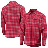 Men's Antigua Red/Gray St. Louis Cardinals Flannel Button-Down Shirt