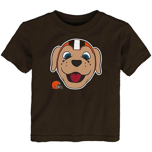 Toddler Brown Cleveland Browns Headshot T-Shirt