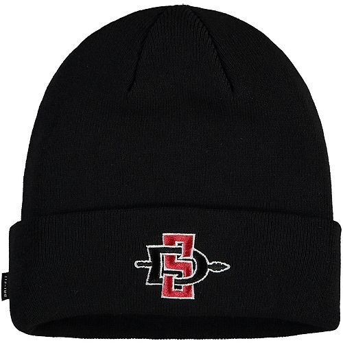 Men's Nike Black San Diego State Aztecs Team Logo Sideline Cuffed Knit Hat
