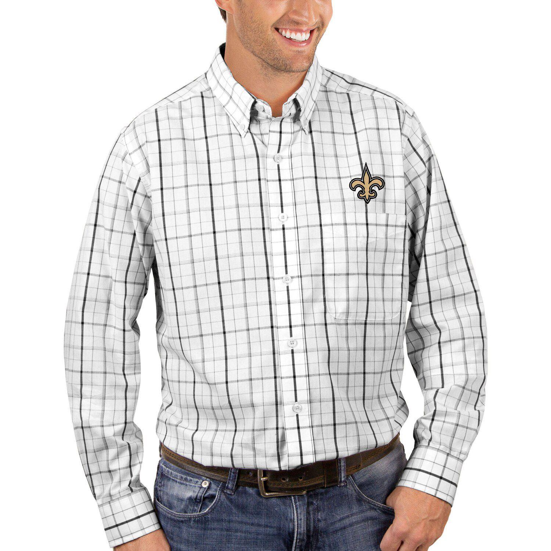 new orleans saints button up shirt