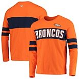 Men's Hands High Orange Denver Broncos Game On Sueded Slub Long Sleeve T-Shirt