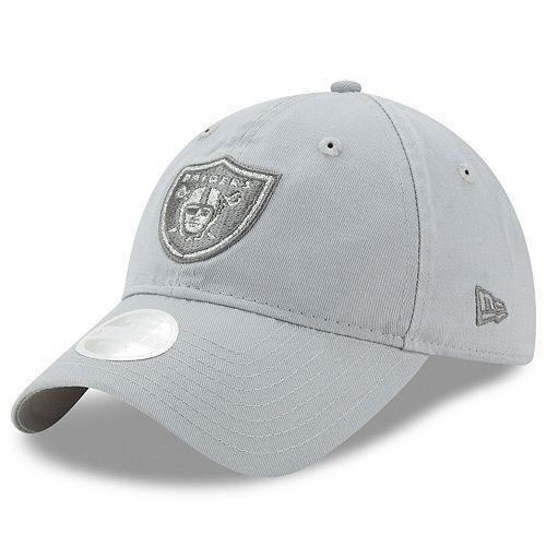 Glitter Logo Adjustable Oakland Raiders Hat New Era Women/'s Team Glisten