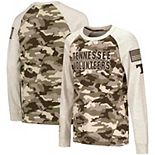 Youth Colosseum Oatmeal Tennessee Volunteers OHT Military Appreciation Desert Camo Raglan Long Sleeve T-Shirt