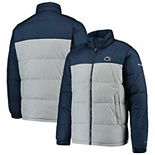 Men's Columbia Navy/Gray Penn State Nittany Lions Pike Lake Omni-Heat Full-Zip Jacket