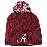 Girls Youth New Era Crimson Alabama Crimson Tide Cozy Cable Cuffed Knit Hat