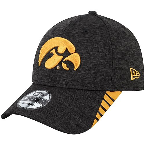 well known lace up in cheapest price Men's New Era Black Iowa Hawkeyes Visor Trim 9FORTY ...