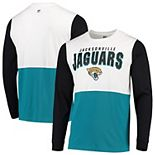 Men's Hands High White/Teal Jacksonville Jaguars Change Up Long Sleeve T-Shirt