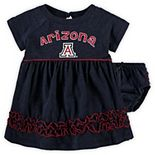 Girls Infant Colosseum Navy Arizona Wildcats Plucky Dress and Bloomer Set
