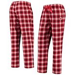 Women's Scarlet/White Ohio State Buckeyes Flannel Lounge Jogger Pants
