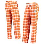 Women's Concepts Sport Orange/White Miami Dolphins Piedmont Flannel Sleep Pants
