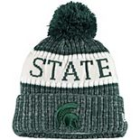 Youth New Era Green Michigan State Spartans Sport Knit Hat with Pom