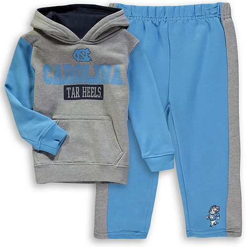 Toddler Colosseum Heathered Gray/Carolina Blue North Carolina Tar Heels Back To School Fleece Hoodie And Pant Set