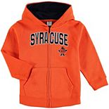 Toddler Orange Syracuse Orange Applique Arch & Logo Full-Zip Hoodie