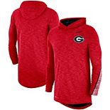 Men's Nike Red Georgia Bulldogs 2019 Sideline Long Sleeve Hooded Performance Top