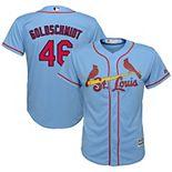 Youth Majestic Paul Goldschmidt Light Blue St. Louis Cardinals Alternate Official Cool Base Player Jersey