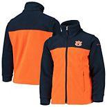 Youth Columbia Orange/Navy Auburn Tigers Flanker II Fleece Full-Zip Jacket