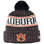 Youth New Era Navy Auburn Tigers Sport Knit Hat with Pom