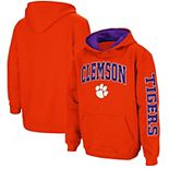 Youth Colosseum Orange Clemson Tigers 2-Hit Team Pullover Hoodie