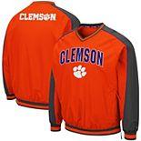 Men's Colosseum Orange Clemson Tigers Duffman Pullover Windbreaker