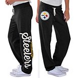 Women's G-III 4Her by Carl Banks Black Pittsburgh Steelers Scrimmage Fleece Pants