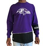 Men's Refried Apparel Purple/Black Baltimore Ravens Upcycled Angle Long Sleeve T-Shirt