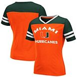Girls Youth Colosseum Orange Miami Hurricanes Faboo V-Neck T-Shirt