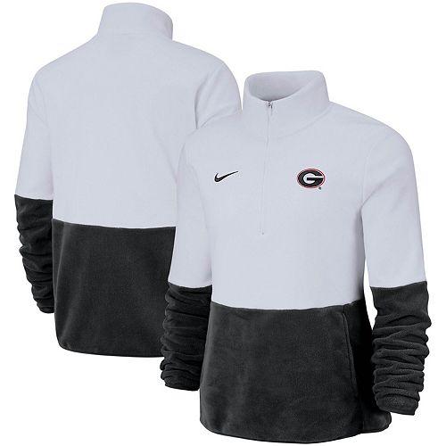 Women's Nike RedBlack Georgia Bulldogs Woven Anorak Half Zip Pullover Jacket