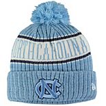 Youth New Era Carolina Blue North Carolina Tar Heels Sport Knit Hat with Pom
