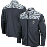 Men's Colosseum Charcoal NC State Wolfpack OHT Military Appreciation Fleece Full-Zip Jacket