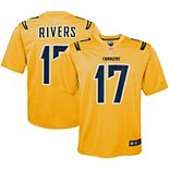 Youth Nike Philip Rivers Gold Los Angeles Chargers Inverted Game Jersey