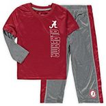 Toddler Colosseum Crimson/Heathered Gray Alabama Crimson Tide Bayharts Long Sleeve T-Shirt and Pants Set