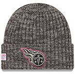 Men's New Era Heather Gray Tennessee Titans 2019 NFL Crucial Catch Cuffed Knit Hat