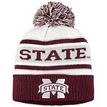 Men's adidas Maroon/Gray Mississippi State Bulldogs Head Name Cuffed Knit Hat