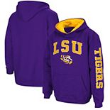 Youth Colosseum Purple LSU Tigers 2-Hit Team Pullover Hoodie