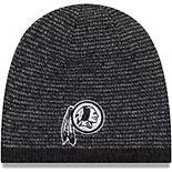 Men's New Era Black Washington Redskins Reversible Basic Team Knit Beanie