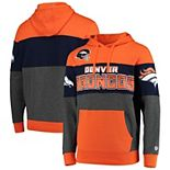 Men's G-III Sports by Carl Banks Orange/Charcoal Denver Broncos Extreme Special Team Pullover Hoodie