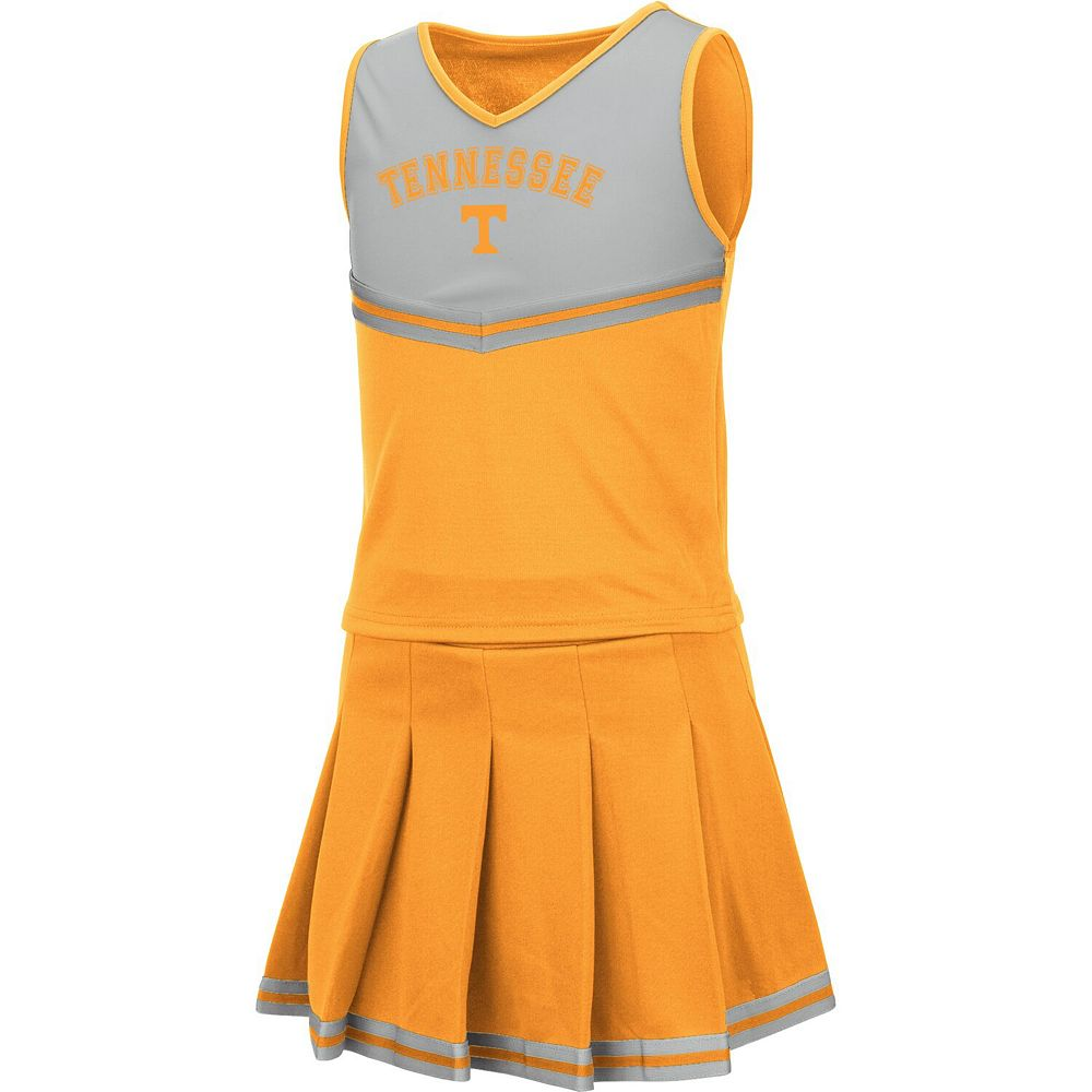 Girls Youth Colosseum Tennessee Orange Tennessee Volunteers Pinky Cheer Dress