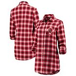 Women's Scarlet/White Ohio State Buckeyes Fireside II Button-Up Flannel Shirt