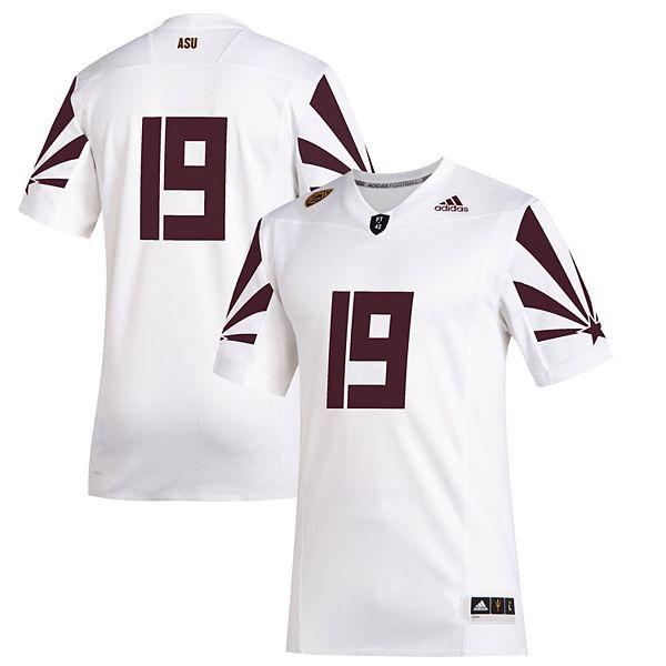 Men's adidas #19 White Arizona State Sun Devils 2019 Special Game Premier Football Jersey