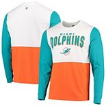 Men's Hands High White/Orange Miami Dolphins Change Up Long Sleeve T-Shirt
