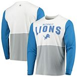 Men's Hands High White/Silver Detroit Lions Change Up Long Sleeve T-Shirt