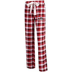 Women's Concepts Sport Red/Black Georgia Bulldogs Piedmont Flannel Pants