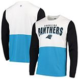 Men's Hands High White/Blue Carolina Panthers Change Up Long Sleeve T-Shirt