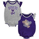 Newborn & Infant Purple Washington Huskies Celebration 2-Pack Bodysuit Set