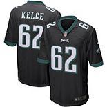 Men's Nike Jason Kelce Black Philadelphia Eagles Player Game Jersey
