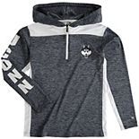 Youth Colosseum Heathered Navy UConn Huskies Quick Kick Quarter-Zip Hoodie