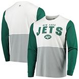 Men's Hands High White/Gray New York Jets Change Up Long Sleeve T-Shirt